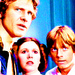 Leia, Han and Luke - princess-leia-organa-solo-skywalker icon