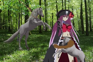 Liliana caught a beautiful unicorn mare and then snatched her potro
