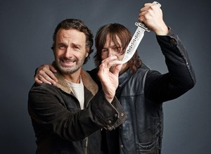 линкольн and Reedus ~ TV Guide Magazine