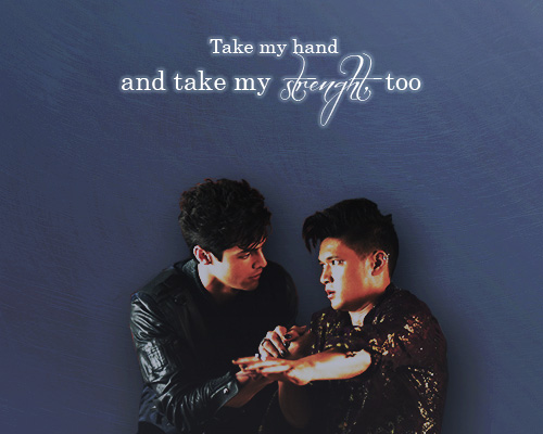 Alec & Magnus 壁紙 probably containing a sign and a portrait called Malec - ファン Art