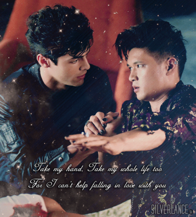 Alec & Magnus fondo de pantalla probably with a sign entitled Malec - fan Art
