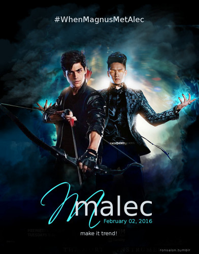 Alec & Magnus wallpaper entitled Malec - fan Art