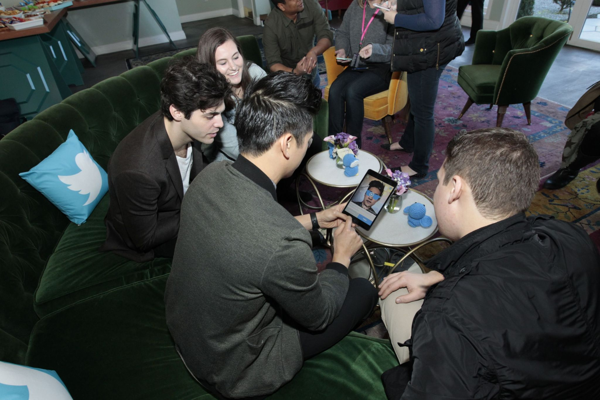 Matt and Harry at the Freeform Launch Event
