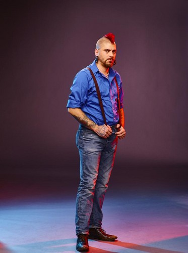 Ink Master wallpaper possibly containing a concert, long trousers, and a pantleg, calça entitled Matti Hixson | Ink Master: Revenge (Season 7)