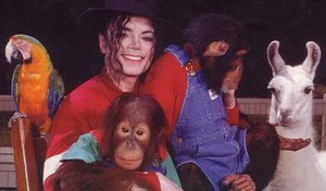 Michael with animali