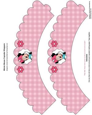 Minnie 老鼠, 鼠标 杯形饼, 蛋糕 wrappers