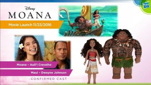 Disney's Moana वॉलपेपर possibly containing ऐनीमे called Moana गुड़िया from Hasbro