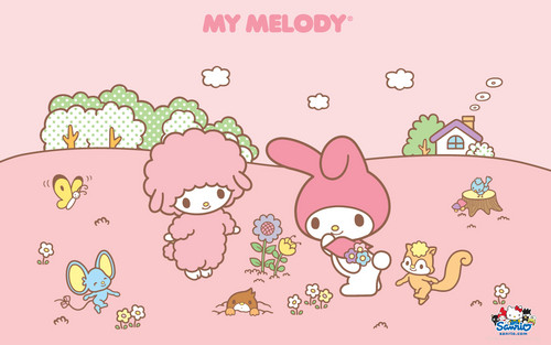 Sanrio wallpaper probably with anime titled My Melody Wallpaper