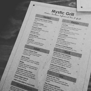 Mystic Grill Menu