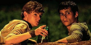 Newt and Thomas in The Maze Runner