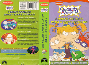 Nicklodeon's Rugrats A Baby's Gotta Do What A Baby s Gotta Do VHS