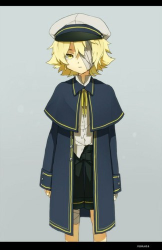 Vocaloid Oliver 壁纸 possibly with a surcoat, 外套 and a 战袍, tabard titled Oliver
