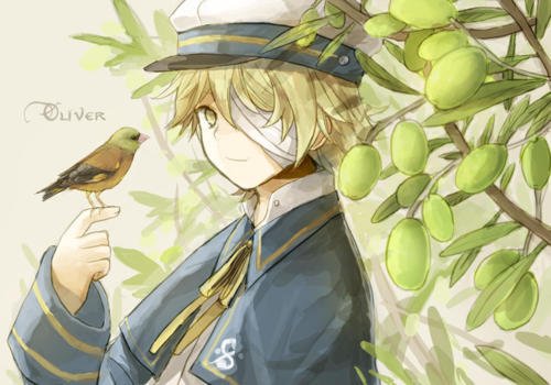 Vocaloid Oliver wallpaper containing a banana entitled Oliver