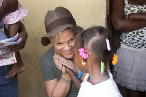 P!nk in Haiti to Help Children