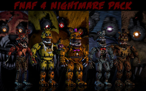 Five Nights at Freddy's kertas dinding containing Anime titled PAPAS PC fnaf 4 kertas dinding pack updated sejak xquietlittleartistx d93ctdc