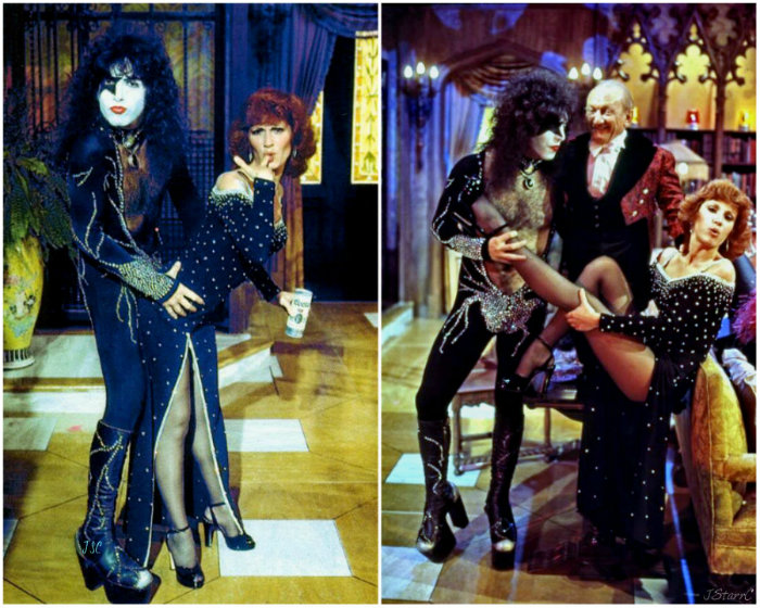 Paul Stanley Bilder Paul With Billy Barty And Roz Kelly Hollywood