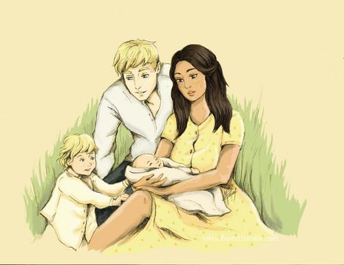 Peeta Mellark and Katniss Everdeen wolpeyper probably with an edible banana, a banana, and anime entitled Peeta/Katniss - Mockingjay Part 2 Fanart