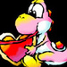 Pink Yoshi with a Heart - yoshi icon