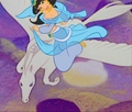 Princess Jasmine riding her Beautiful White Pegasus - princess-jasmine fan art