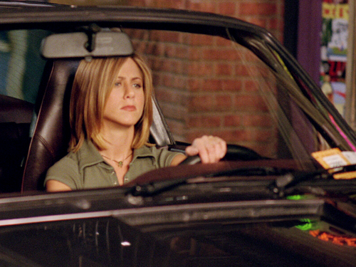 Friends wallpaper probably with an automobile titled Rachel