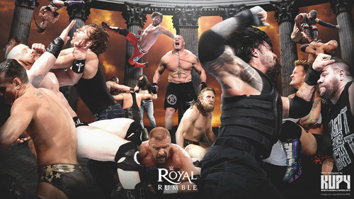 WWE wallpaper titled Royal Rumble 2016