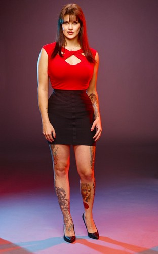 Ink Master wallpaper probably with tights and a leotard called Sarah Miller | Ink Master: Revenge (Season 7)