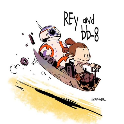 Rey 바탕화면 called Rey and BB-8