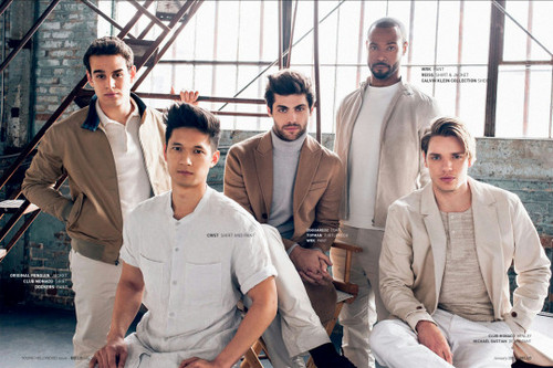Shadowhunters TV Zeigen Hintergrund possibly with a conservatory, a penal institution, and a holding cell titled Shadowhunters Cast for Bello Magazine