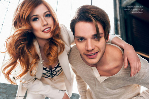 Shadowhunters TV Zeigen Hintergrund containing a portrait titled Shadowhunters Cast for Bello Magazine