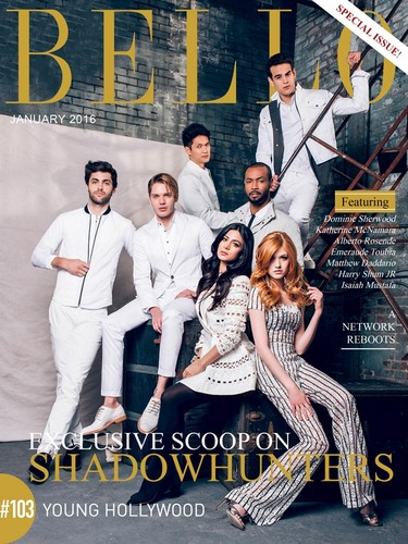 Shadowhunters TV ipakita wolpeyper possibly with a sign and anime entitled Shadowhunters for Bello Magazine