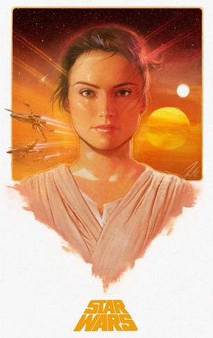 étoile, star Wars The Force Awakens: Rey