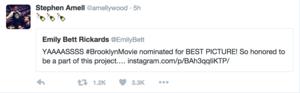Stephen/Emily Tweet