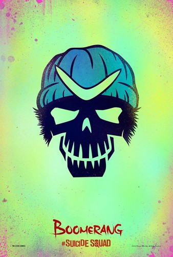 Suicide Squad wallpaper possibly containing anime called Suicide Squad Skull Poster - Boomerang