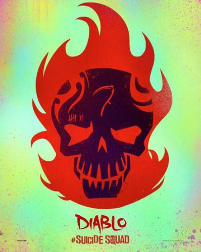 Suicide Squad wallpaper entitled Suicide Squad Skull Poster - El Diablo