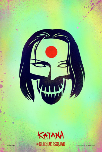 Suicide Squad 바탕화면 possibly containing a sign titled Suicide Squad Skull Poster - Katana