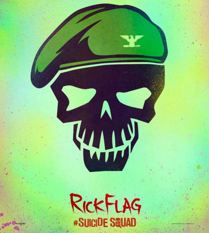 Suicide Squad Skull Poster - Rick Flag