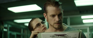 Cara Delevingne as June Moon and Joel Kinnaman as Rick Flag