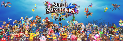 Super Smash Bros. Brawl karatasi la kupamba ukuta titled Super Smash Bros 5 (Huge Roster)