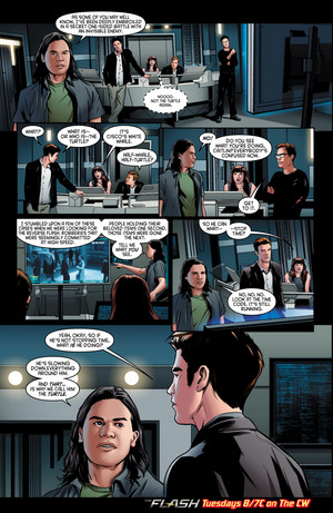 The Flash - Episode 2.10 - Potential Energy - Comic cuplikan