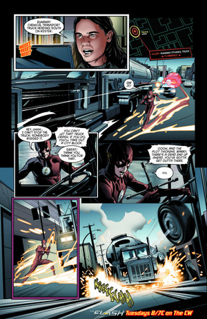 The Flash - Episode 2.11 - The Reverse Flash Returns - Comic cuplikan
