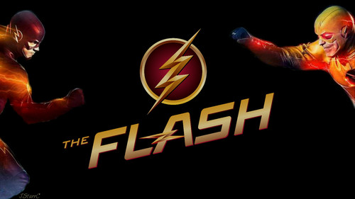 The Flash (CW) দেওয়ালপত্র titled The Flash vs Reverse Flash