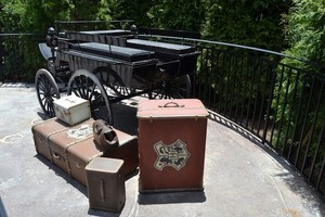Thestral carriage outside Hogsmeade Station