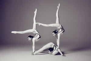 Three person contortion