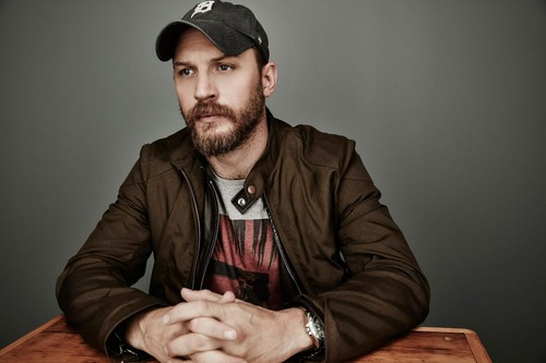 Tom Hardy wallpaper probably with a sign and a workwear titled Tom Hardy ~ 2015 Toronto Film Festival Photoshoot