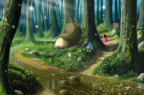 My Neighbor Totoro fondo de pantalla called Totoro and Mei