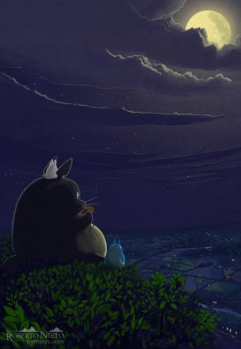 My Neighbor Totoro fond d'écran titled Totoro