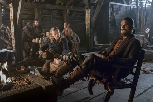 Vikings (TV Series) karatasi la kupamba ukuta probably with a horse wrangler, a horse trail, and a lippizan entitled Vikings (4x04) promotional picture