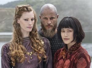Vikings Ragnar, Aslaug and Yidu Season 4 First Look