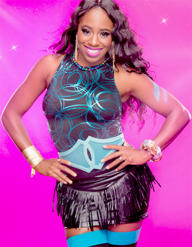 WWE Divas karatasi la kupamba ukuta probably containing a leotard, tights, suruali moto, hot pants, and suruali ya moto called WWE Naomi