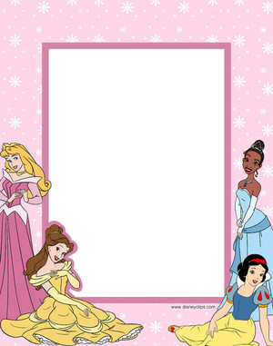 Walt ディズニー Crafts - Princess Aurora, Princess Belle, Princess Tiana, Princess Snow White Frame